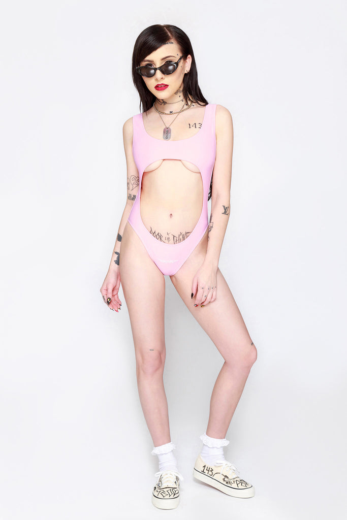 Candy P*ssy Guard Cutout Swimsuit