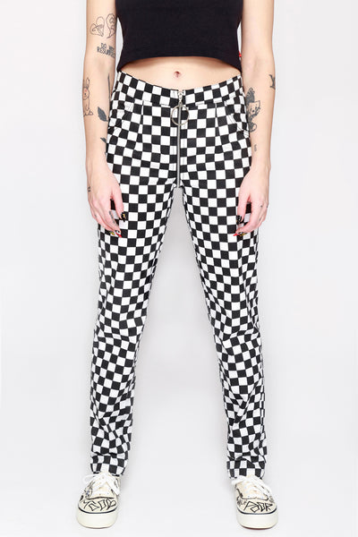 Checkered Life Full Zip Pants