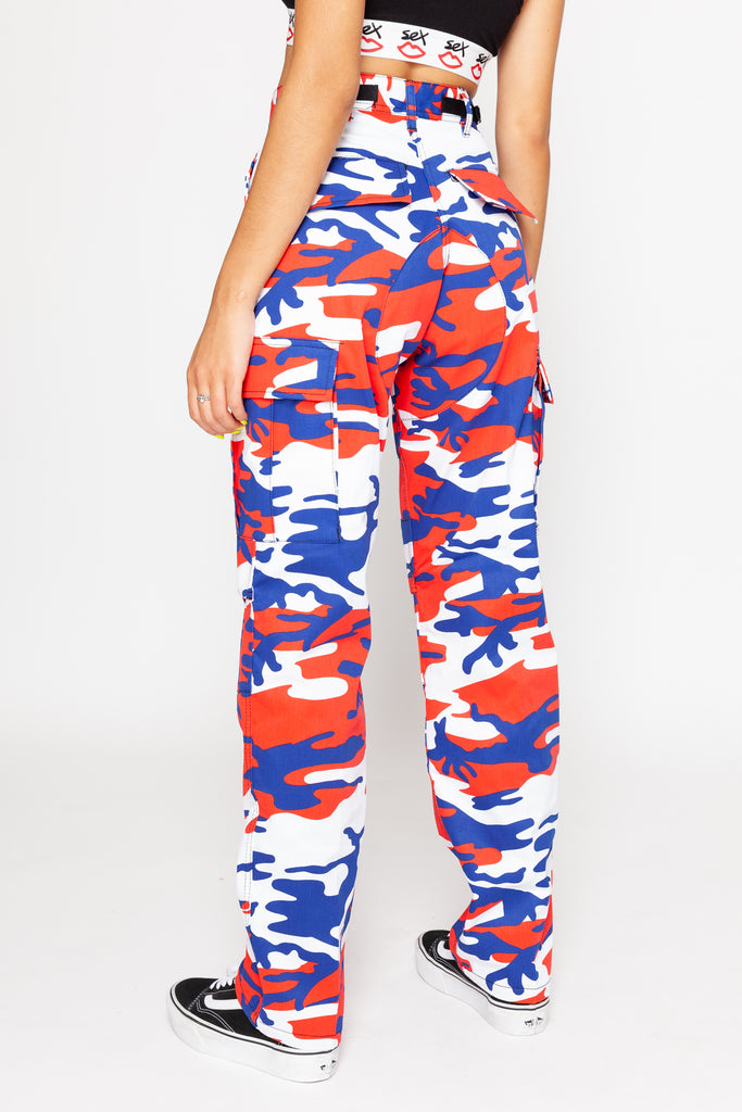 This Is America Camo Cargo Pants