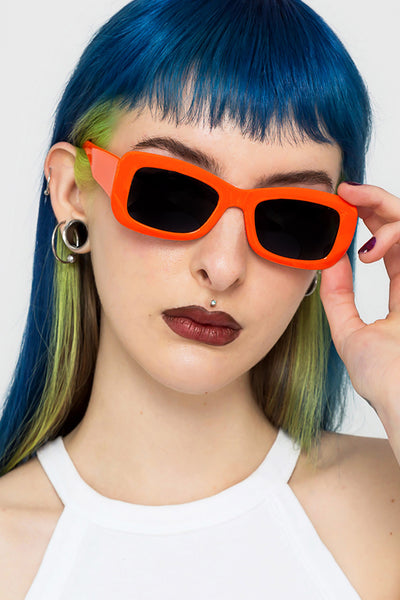 Warning Rectangle Sunglasses
