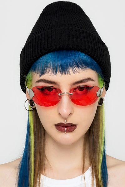 Vampire Rimless Shield Sunglasses