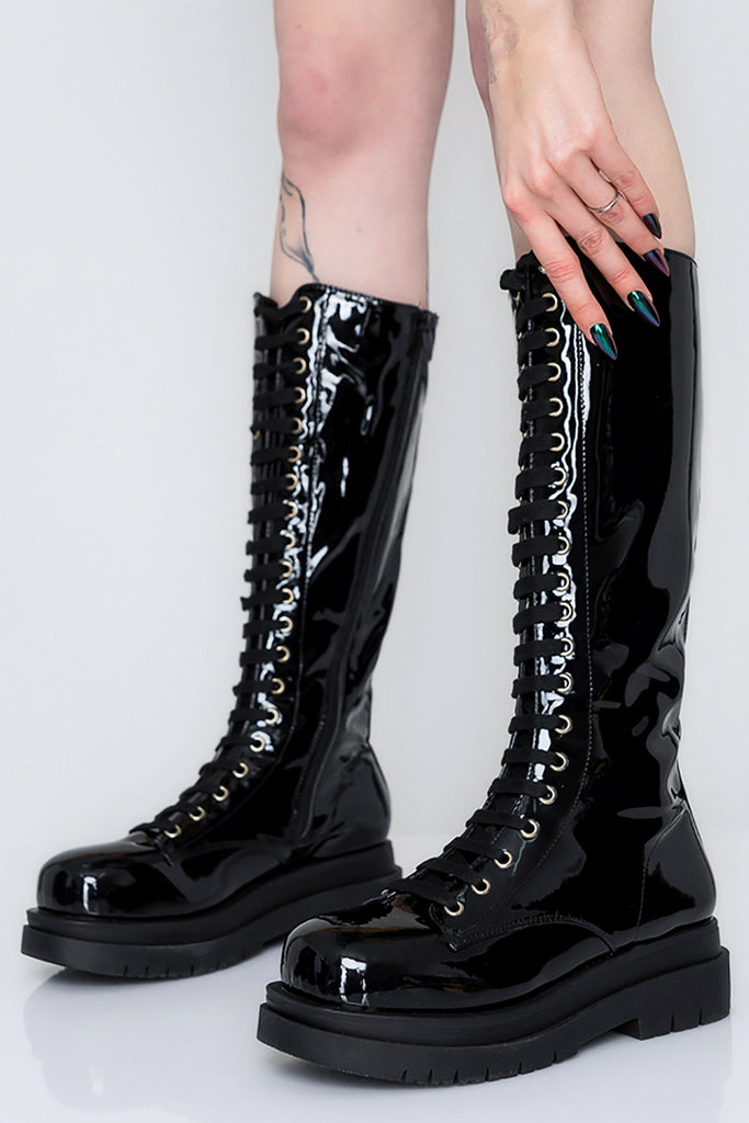 Slick Riverworld Lace Up Boots