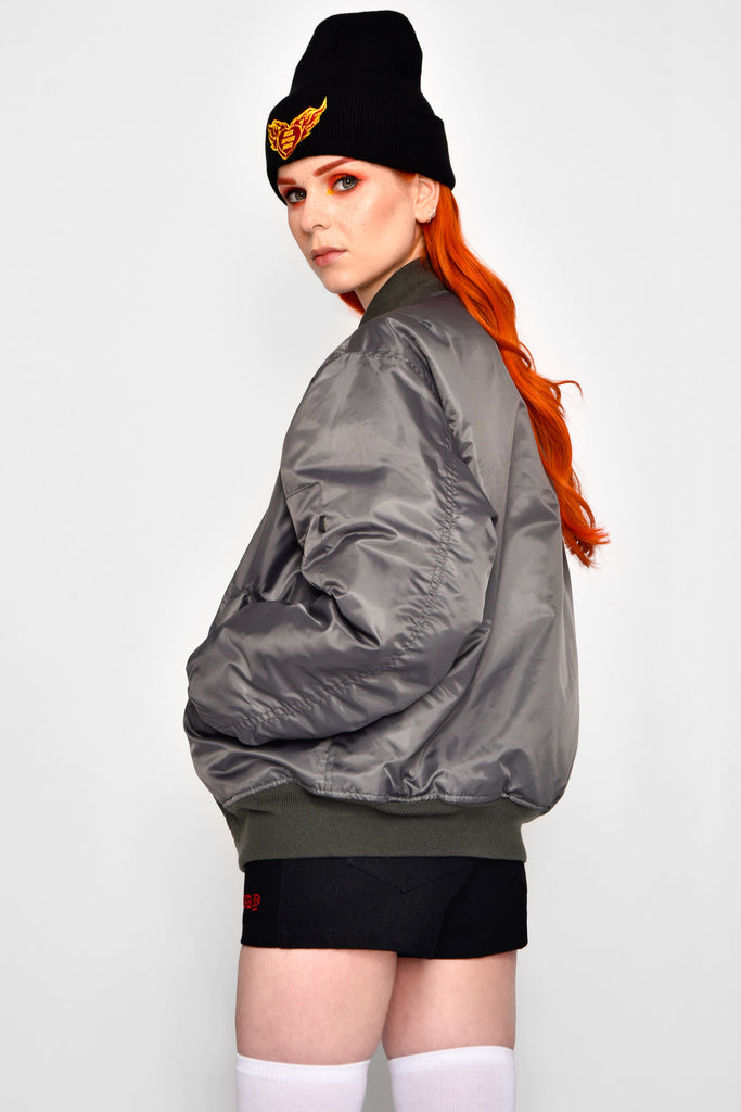 Gun Metal MA-1 Flight Jacket