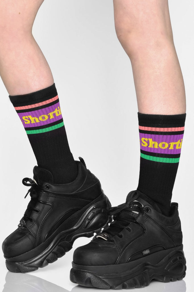 Text Logo Socks Black