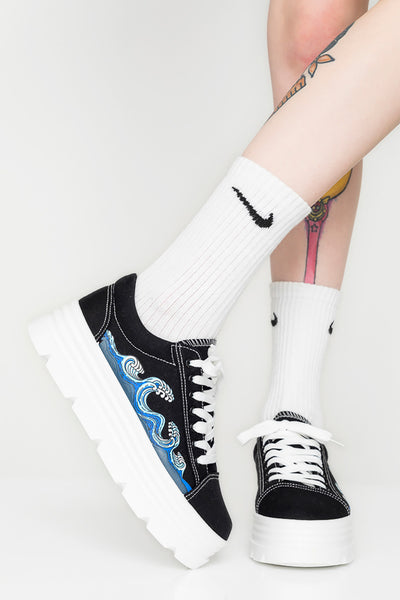 Sakura Wave Chunky Sneakers