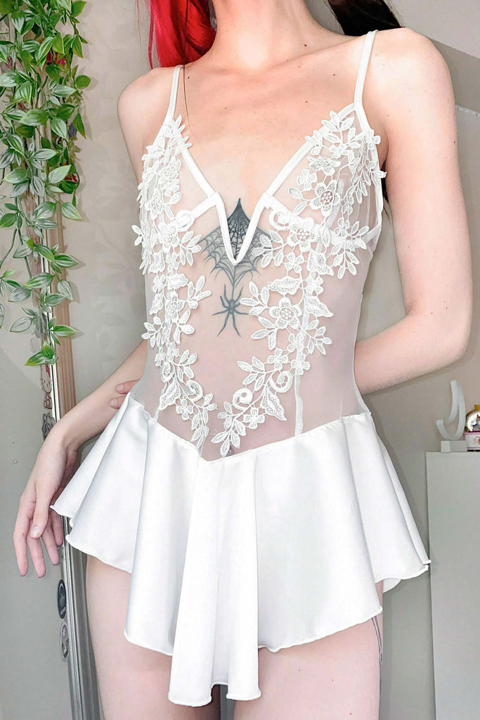Bring Me To Life Lace Ruffle Body