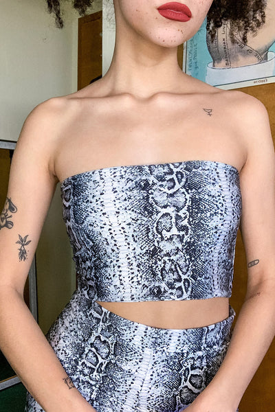 Venom Snakeskin Tube Top