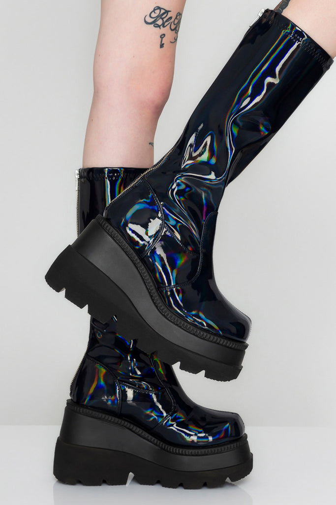 Cosmic Hell Black Holo Boots