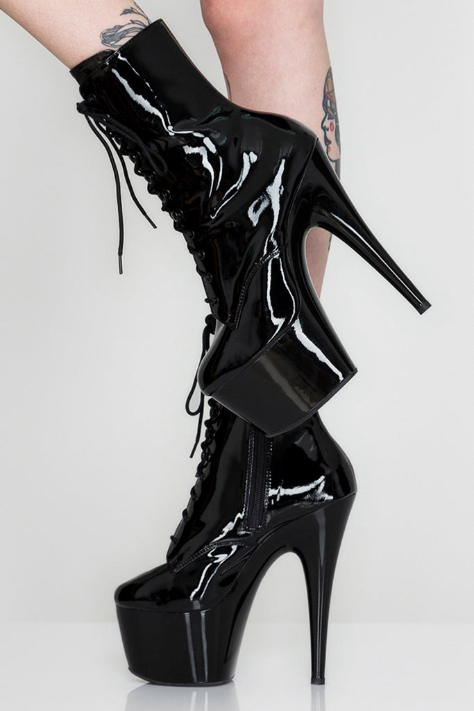 Dominatrixxx Lace-Up Platform Heels