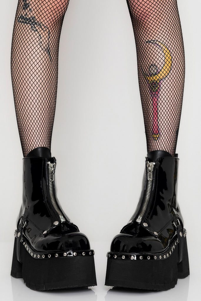 Into Ashes Platform Boots