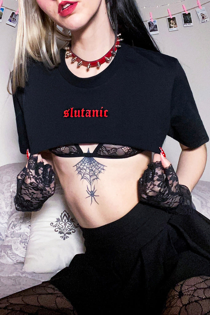Slutanic Super Crop Tee