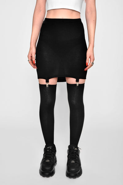 Black Widow Garter Mini Skirt