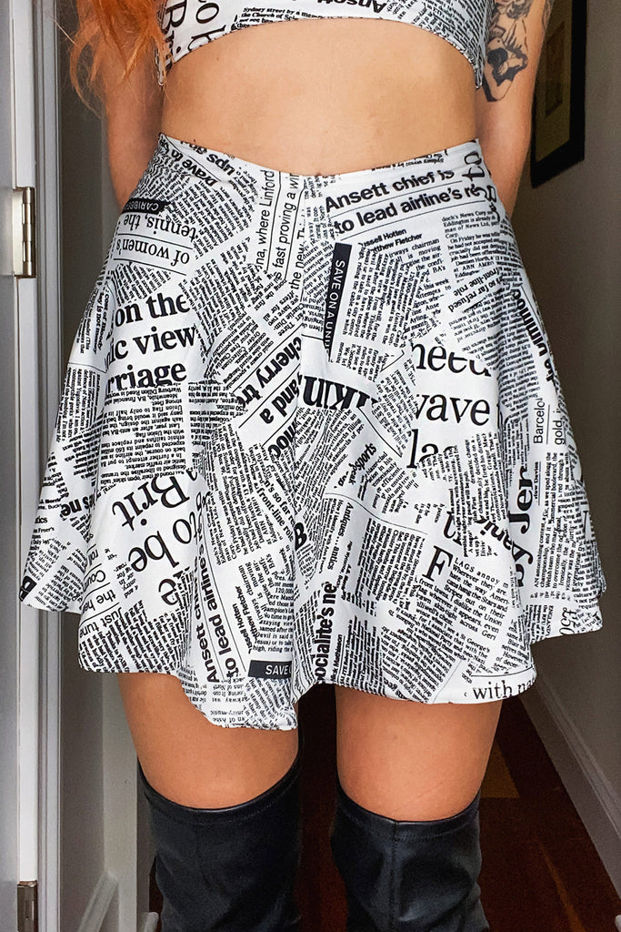 Fake News Skater Skirt