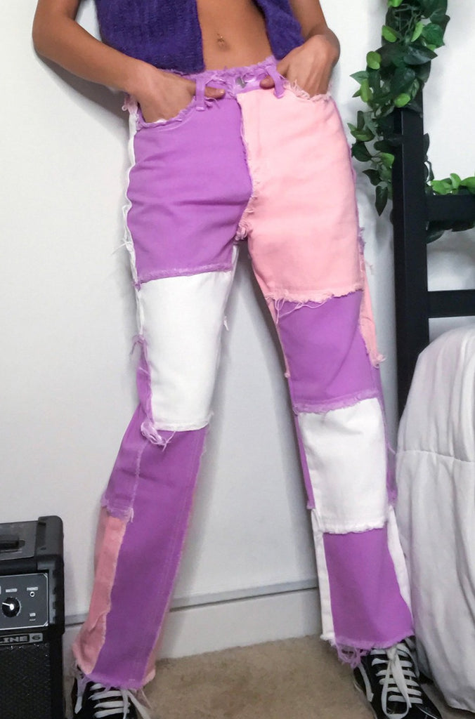Pinky Patchy Jeans