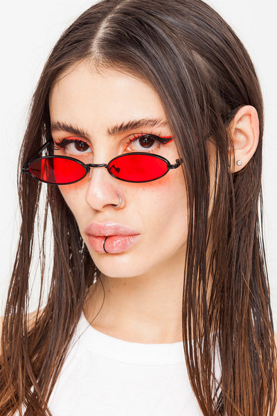 She Devil Oval Sunglasses