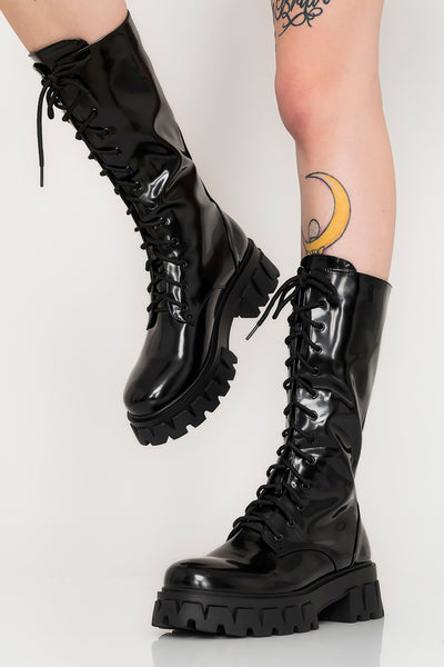 Trinity Patent Boots
