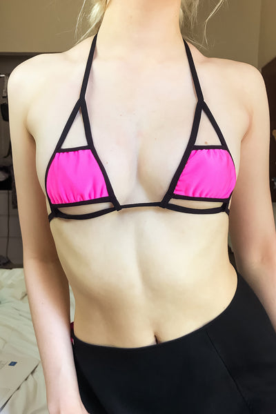 Babydoll Cut Out Bikini Top