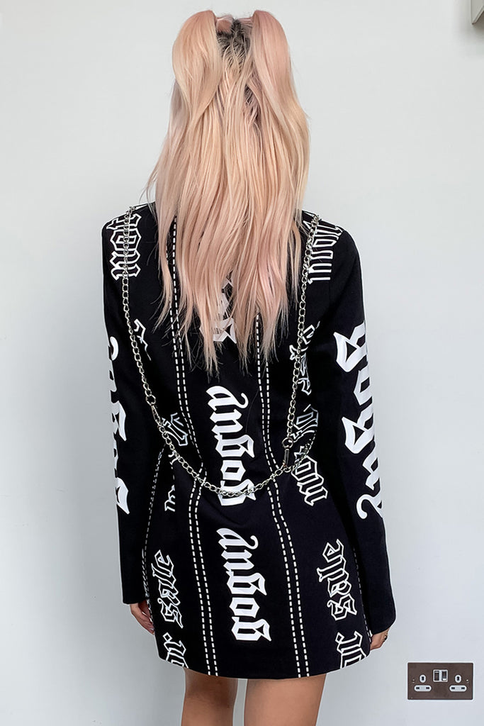 Chain Harness Blazer Dress