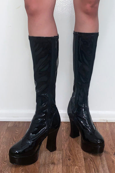 Scary Spice Patent Boots