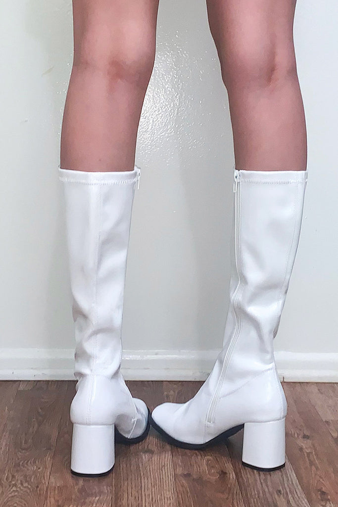 Baby Spice Go-Go Patent Boots