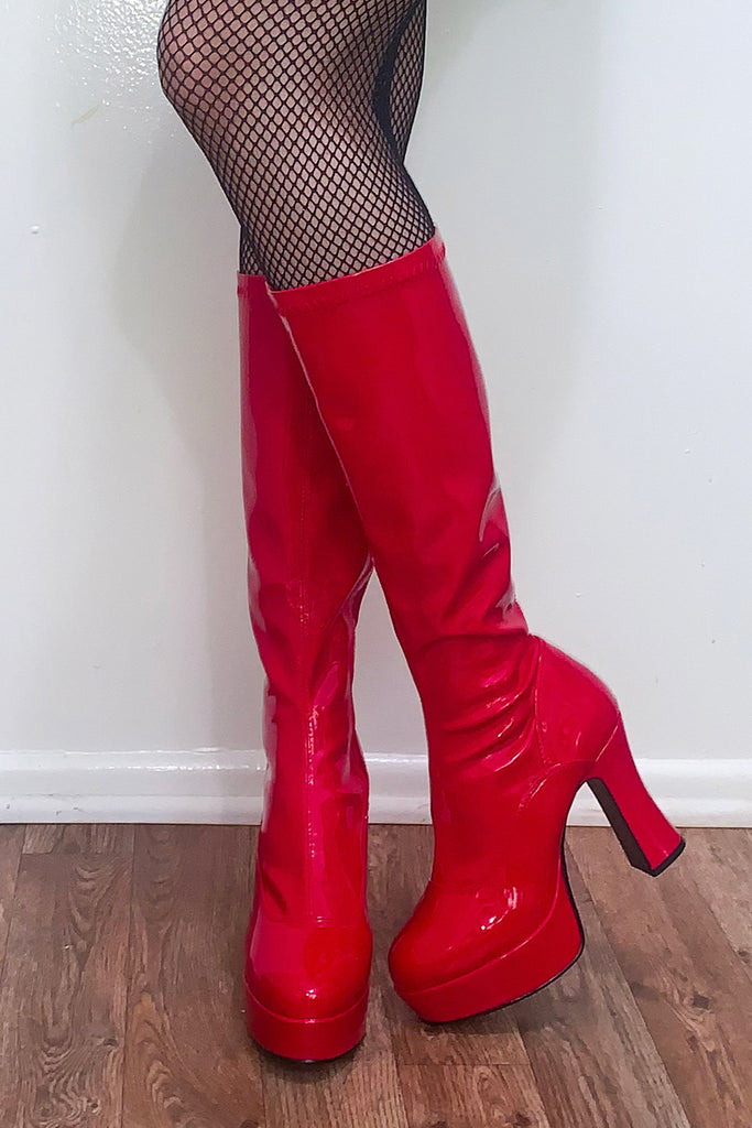 Spice Up Your Life Patent Boots