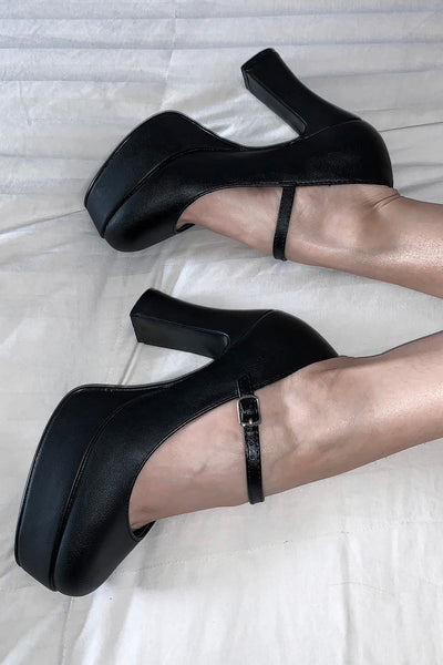High Class Mary Jane Platform Heels