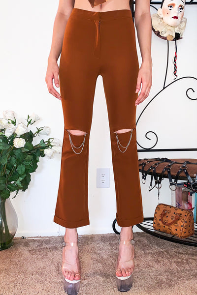 Tan Chain Pants