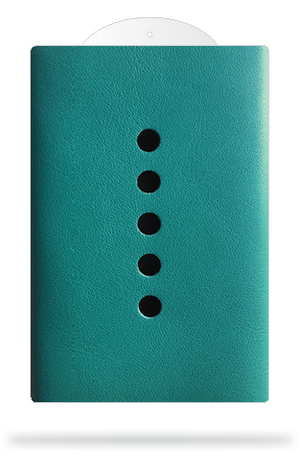 cabana - slim wallet - teal