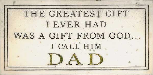 Wall Plaque: Greatest Gift <BR> 3.625H x 7.625W x .5D