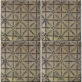 Metal Ceiling Tiles with Diamond pattern. Set of 4.<BR><BR>10.5H x 10.5H x 1D