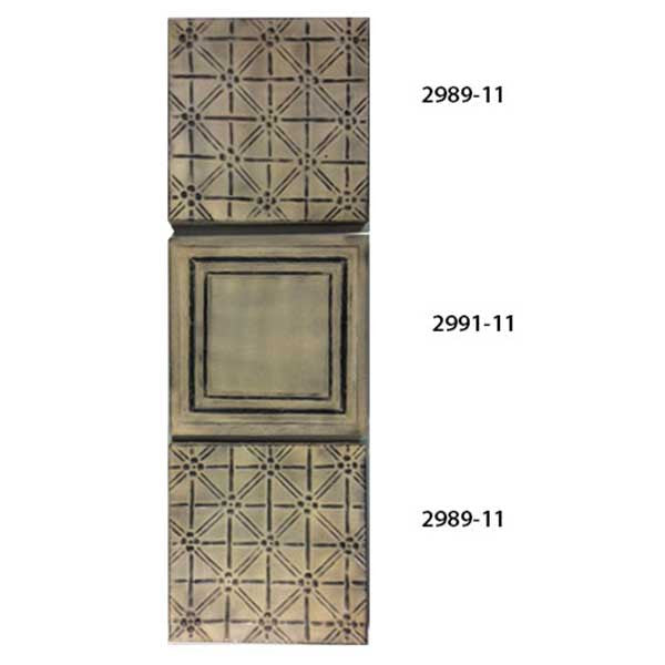 Circa 1900 Set of 3 Ceiling Squares <BR> 10.5H x 10.5W x 1D Each