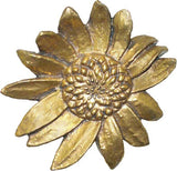 Medallion:  van Gogh Sunflower with Screw<BR> 4.25H  x  5.75W  x 4 7/8D