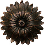 Medallion: Sunflower <BR> 4.25H x .75D