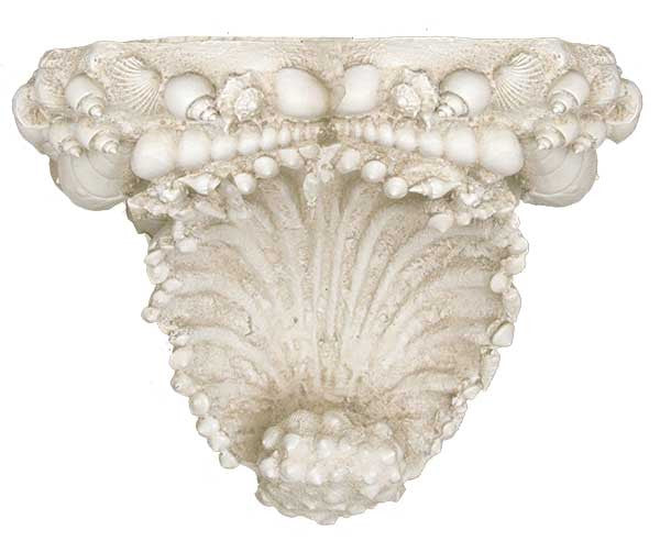 Multi Shell Scalloped Decorative Shelf / Bracket<BR> 10.75H x 7.75W x 6.37D