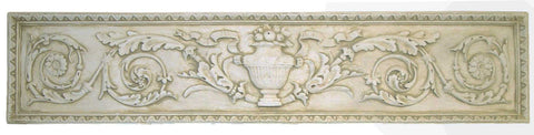 Urn With Details <BR> 10H x 47.5W x 1.5D