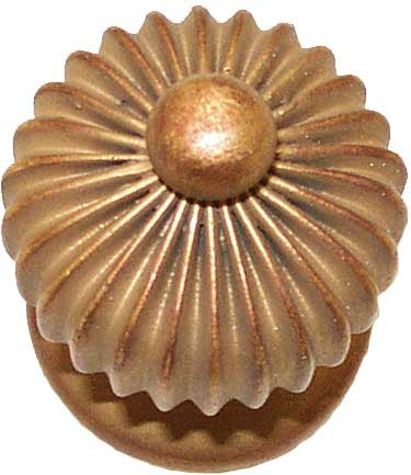 "Medallion: Square Fluted Oval <BR>  1.75""Diameter x 2.75D"