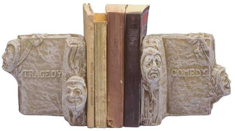 Book Ends: Comedy-Tragedy <BR> 5.25H x 7.5W x 4.25D