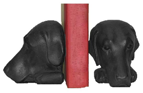Retriever Book Ends <BR> 5.5H x 5.5W x 6D