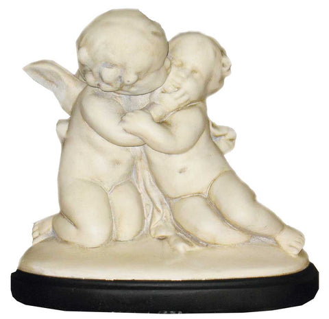 Cherubs: Loving Pair <BR> 11H x 11W x 6.5D