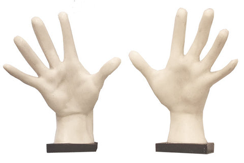Hands Pair of on Bases <BR> 11.75H x 9.25W x 4.5D