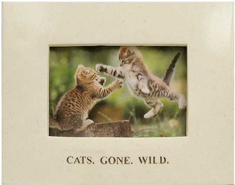 Cats Gone Wild Picture Frame <BR>  6.25H x 7.75W x .5D