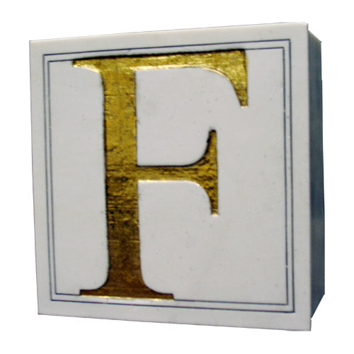 Letter Box - Box with a Gilded capital letter Embossed on the lid