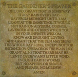 Step Stone: Gardener's Prayer <BR> 8.75H x 8.75W x 0.25D