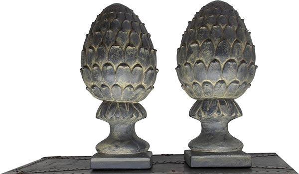"Large Artichoke in 2 Colors <BR> 21H x 9W with a  7"" Square Base."
