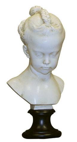 Bust: Busto de Nina by J. Saly in Faux Marble <BR><BR> 18H  x 9W x  8D