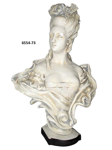 French 18th Century  Noblewoman Bust<BR> 32H x 22W