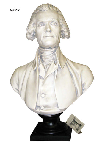 Pres. Thomas Jefferson - Houdon <BR> 27.5H x 19W x 9.5D