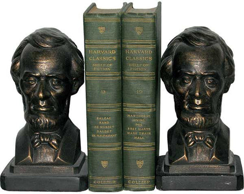 Abe Lincoln as a Pair of Bookends<BR> 7H x 4W x 4D