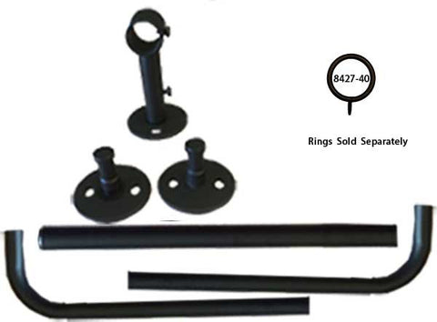Adjustable 3/4in dia.  French Rod Metal Set <BR> Available in 3 Colors