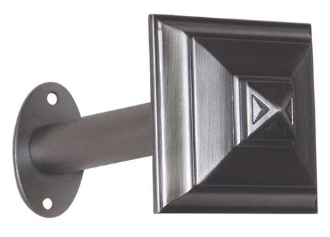 "Metal Holdback: Square Architectural Pair <BR>  2.5""Diameter x 5.75L"